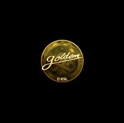 Sticker | Golden (Gold) | Katowice 2019