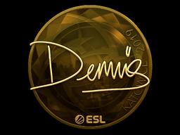 Sticker | dennis (Gold) | Katowice 2019