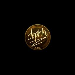 Sticker | dephh (Gold) | Katowice 2019