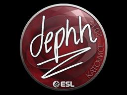Наклейка | dephh | Катовице 2019