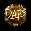 Sticker   daps (Gold)   Katowice 2019
