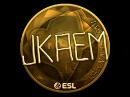 Sticker | jkaem (Gold) | Katowice 2019
