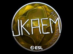 Наклейка | jkaem (металлическая) | Катовице 2019