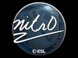 Наклейка | nitr0 | Катовице 2019
