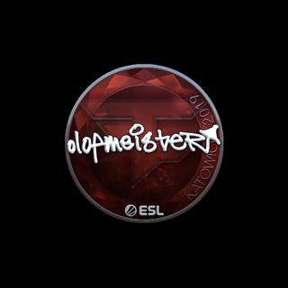 Sticker | olofmeister (Foil) | Katowice 2019