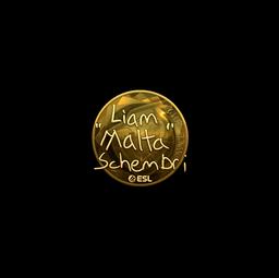 Sticker | malta (Gold) | Katowice 2019