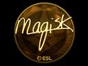 Sticker | Magisk (Gold) | Katowice 2019