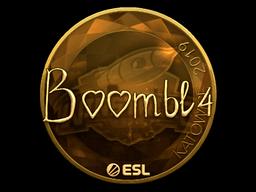 Sticker | Boombl4 (Gold) | Katowice 2019