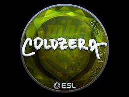 Наклейка | coldzera (металлическая) | Катовице 2019