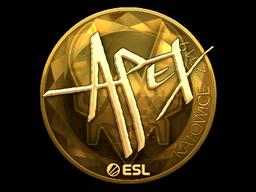Sticker | apEX (Gold) | Katowice 2019