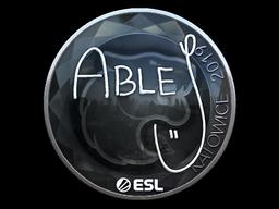 Наклейка | ableJ (металлическая) | Катовице 2019