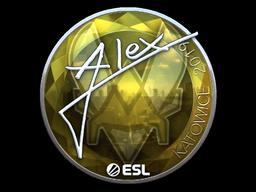 Sticker | ALEX (Foil) | Katowice 2019
