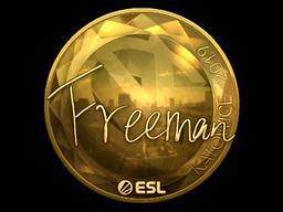 Sticker | Freeman (Gold) | Katowice 2019