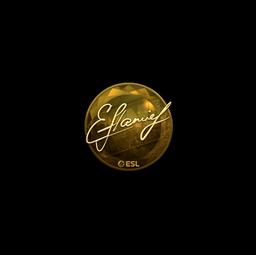 Sticker | flamie (Gold) | Katowice 2019