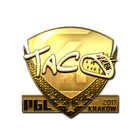 Sticker | TACO (Gold) | Krakow 2017