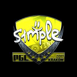 s1mple (Foil) | Krakow 2017
