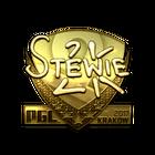 Sticker | Stewie2K (Gold) | Krakow 2017