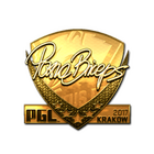 Sticker | pashaBiceps (Gold) | Krakow 2017