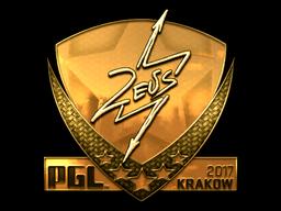 Sticker   Zeus (Gold)   Krakow 2017