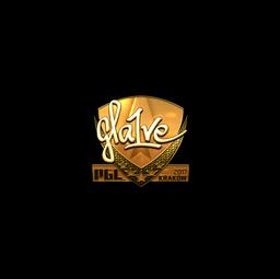 Sticker   gla1ve (Gold)   Krakow 2017