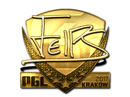Sticker | felps (Gold) | Krakow 2017