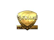 Skin Sticker | FalleN (Gold) | Krakow 2017