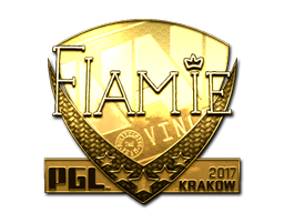 Sticker | flamie (Gold) | Krakow 2017