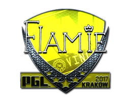 Sticker | flamie (Foil) | Krakow 2017