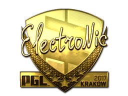 Sticker | electronic (Gold) | Krakow 2017