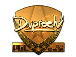 Sticker | dupreeh (Gold) | Krakow 2017