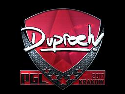 Sticker   dupreeh (Foil)   Krakow 2017