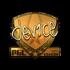 Sticker   device (Gold)   Krakow 2017
