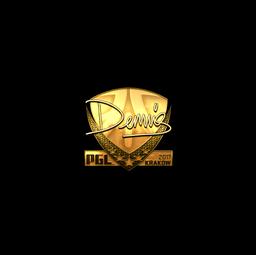 Sticker | dennis (Gold) | Krakow 2017