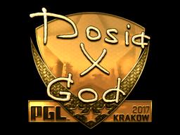 Sticker | Dosia (Gold) | Krakow 2017
