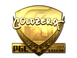 Sticker | coldzera (Gold) | Krakow 2017