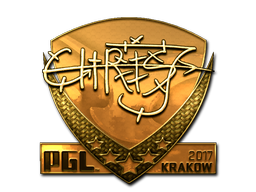 Sticker | chrisJ (Gold) | Krakow 2017