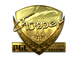 Sticker | chopper (Gold) | Krakow 2017