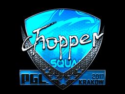 Sticker   chopper (Foil)   Krakow 2017