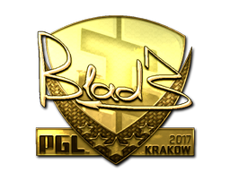 Sticker | B1ad3 (Gold) | Krakow 2017