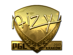Sticker | aizy (Gold) | Krakow 2017