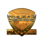 Sticker | oskar (Gold) | Krakow 2017