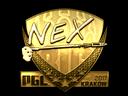 Sticker   nex (Gold)   Krakow 2017