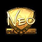 Sticker   NEO (Gold)   Krakow 2017