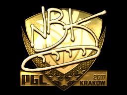 Sticker | NBK- (Gold) | Krakow 2017