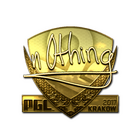 Sticker | n0thing (Gold) | Krakow 2017