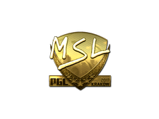 Skin Sticker | MSL (Gold) | Krakow 2017