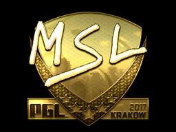 Sticker | MSL (Gold) | Krakow 2017