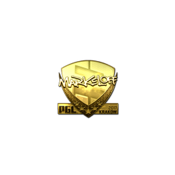 Sticker   markeloff (Gold)   Krakow 2017