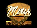 Sticker   mou (Gold)   Krakow 2017