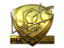 Sticker | LUCAS1 (Gold) | Krakow 2017